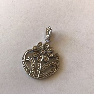Antique/vintage Art Deco style flower pendant